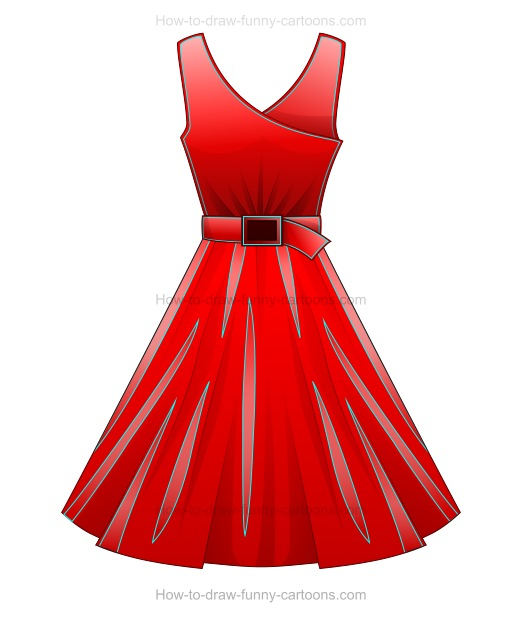 Cartoon Characters You Can Dress Up As : How to draw a cartoon dress