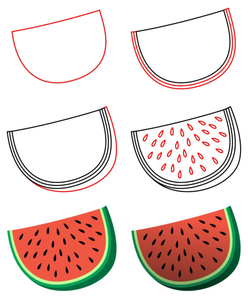 Cartoon food - Watermelon