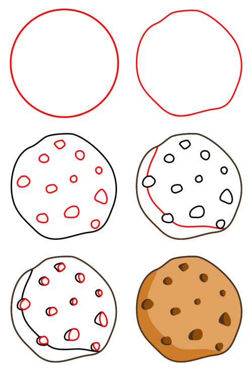 Cartoon food - cookie