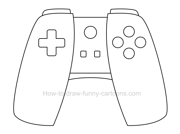 How to draw a cartoon game controller