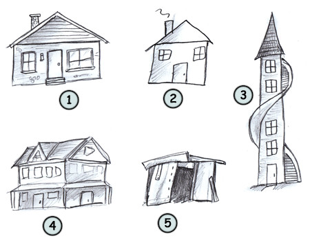 How to Draw Cartoon Houses