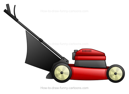 lawnmower drawing. lawnmower drawing e