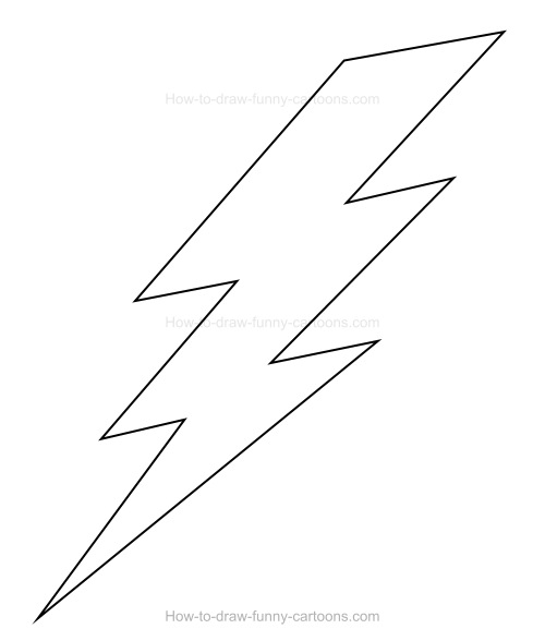 Lightning Drawing Black And White