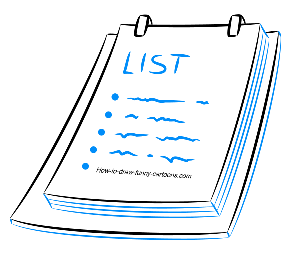 How to draw a cartoon list