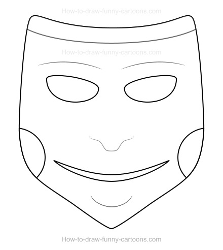 How to Draw A Cartoon Mask