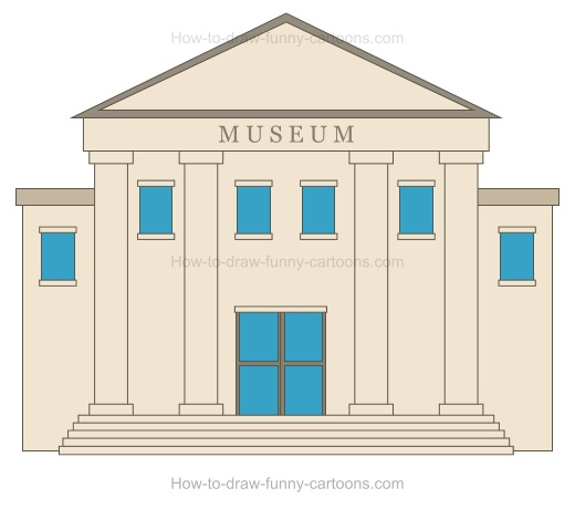 How to Draw A Cartoon Museum