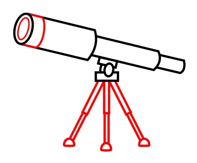 Drawing A Cartoon Telescope