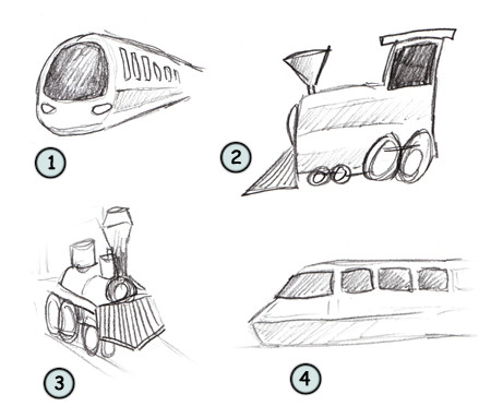 How to Draw A Cartoon Train