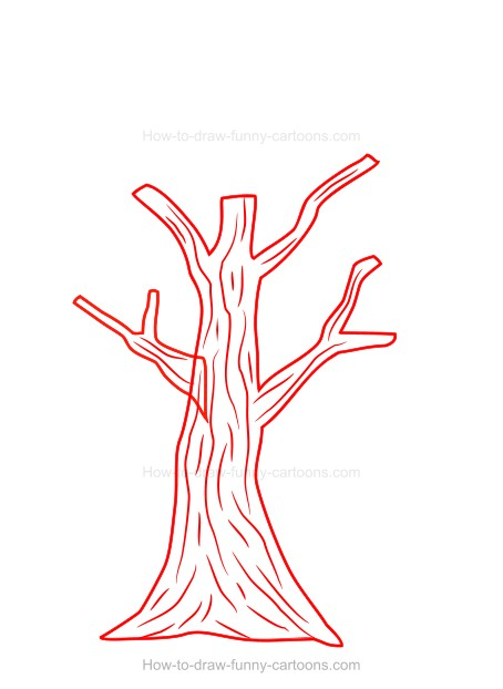 How To Draw A Cartoon Tree With respect to drawing, we can simplify a tree into. how to draw a cartoon tree