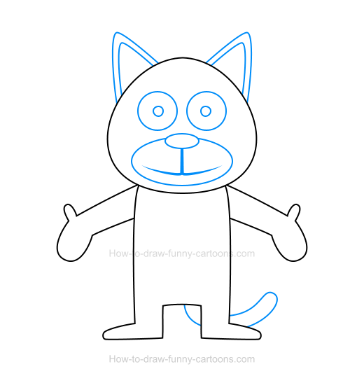 How to draw a cat icon