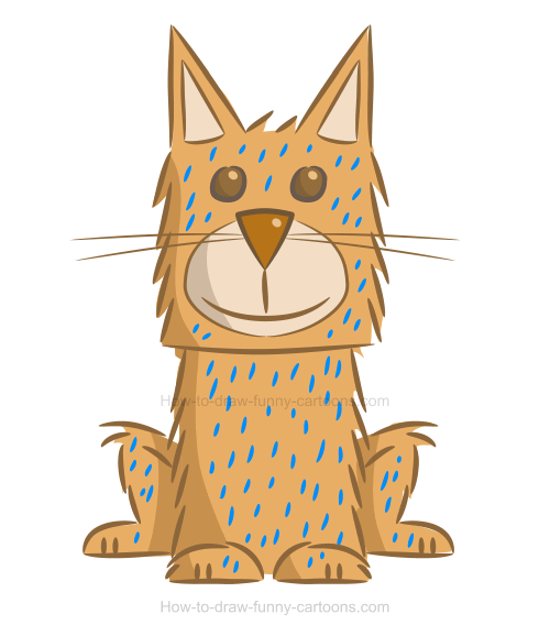 Sketching a simple cat illustration