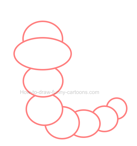 How to draw a caterpillar clip art