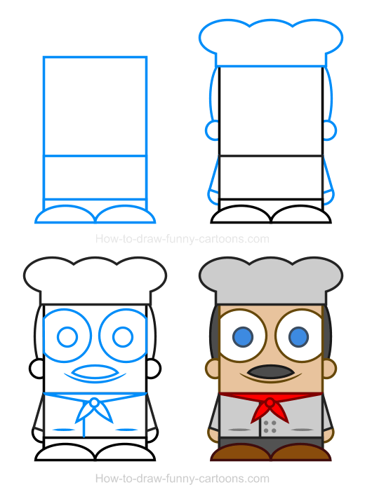 How To Draw A Chef Clipart