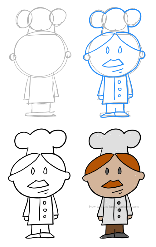 How to draw a chef pictures & video