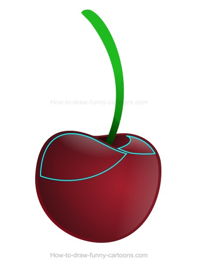 How to Draw A Cherry Cartoon