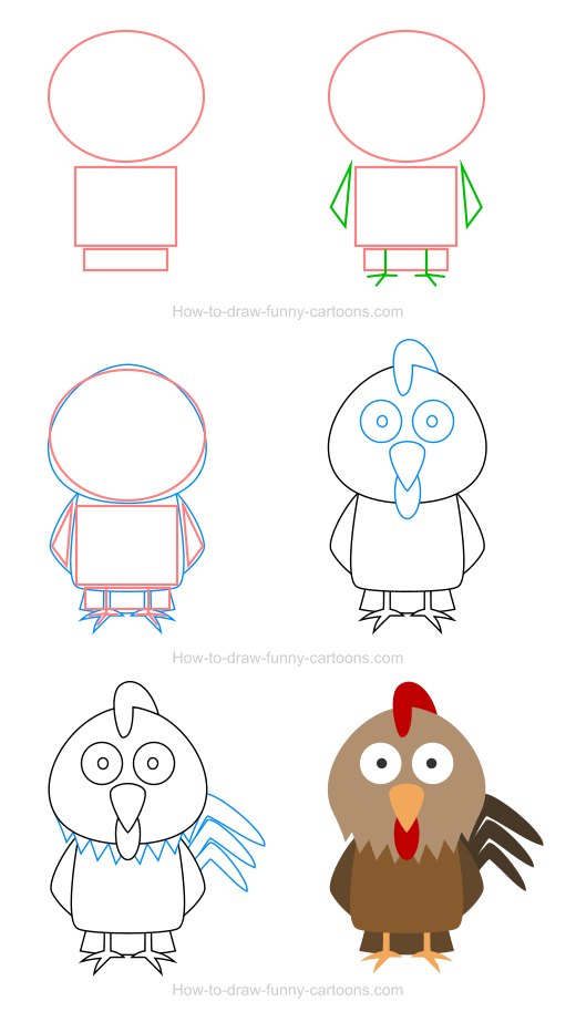 How to draw a chicken icon