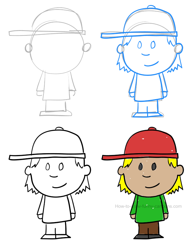 How to draw a child pictures & video