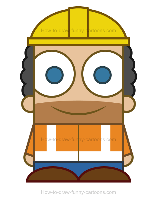 How To Draw A Construction Worker Clipart