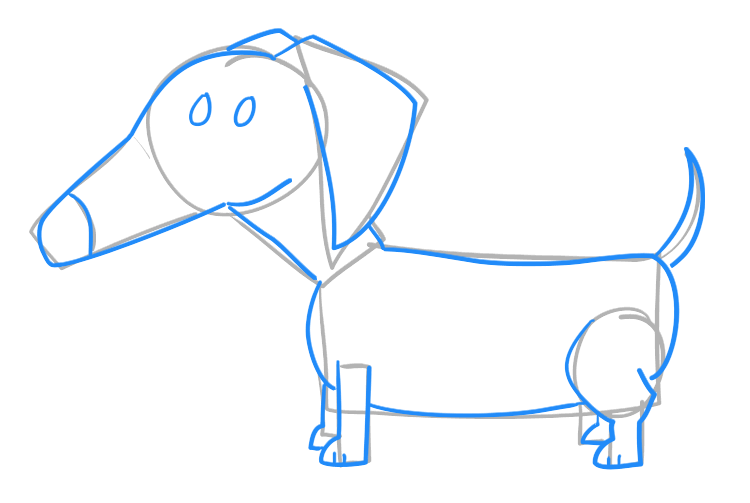 How to draw a dachshund pictures & video