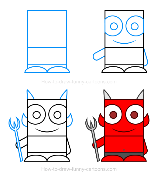 How To Draw A Demon Clipart