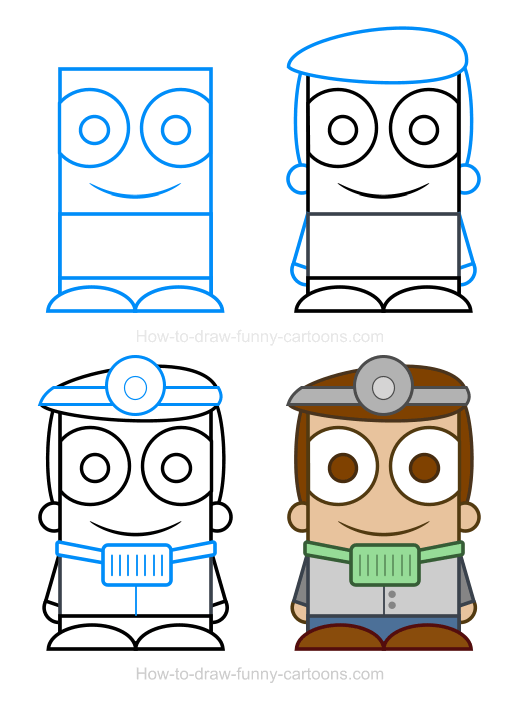 How To Draw A Dentist Clipart