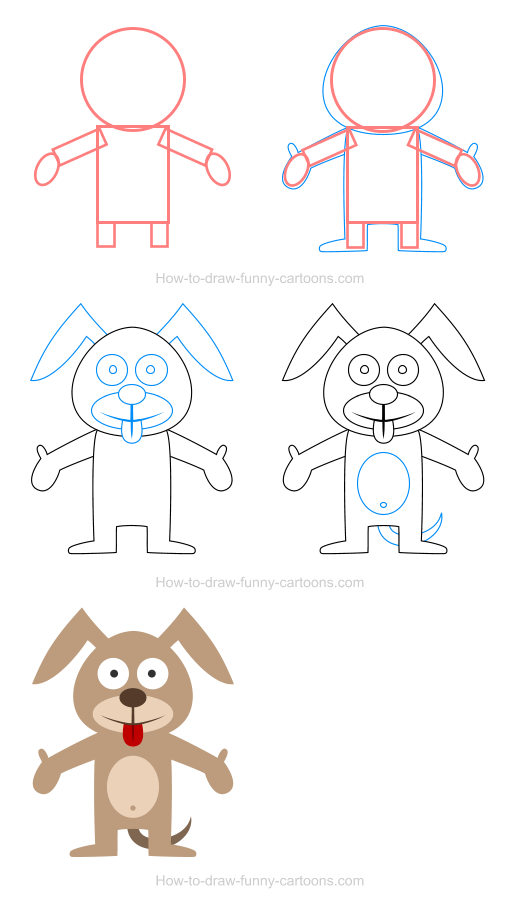 How to draw a dog icon