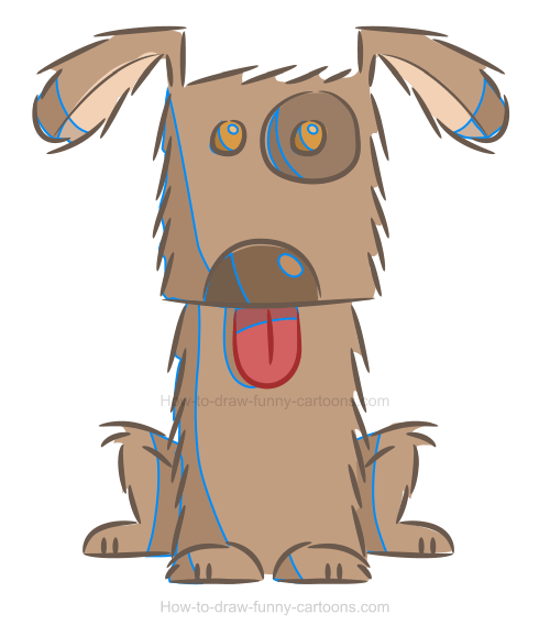 How to create a dog illustration