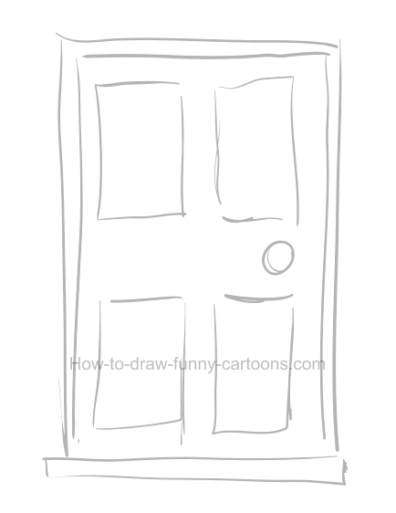 How to draw a door clipart