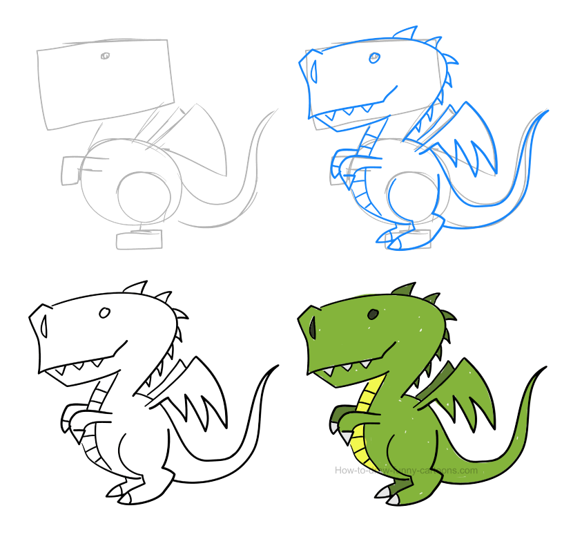 How to draw a dragon (pictures & video)