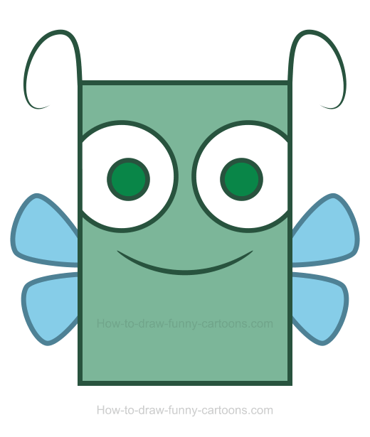 How to Draw a Dragonfly Clipart