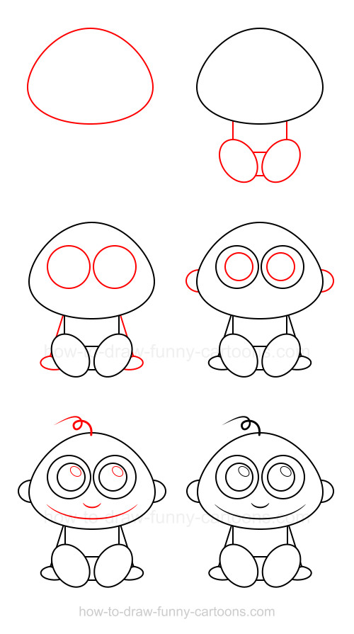 How to draw cartoon characters: Baby