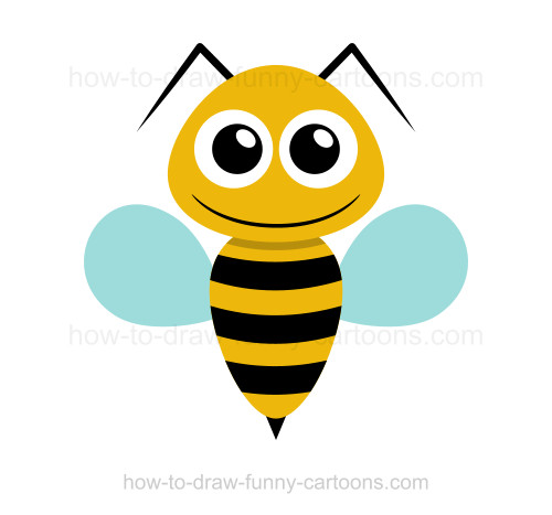 Simple bee drawing - photo#9