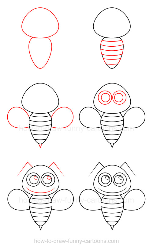How to draw a bumble bee - photo#3