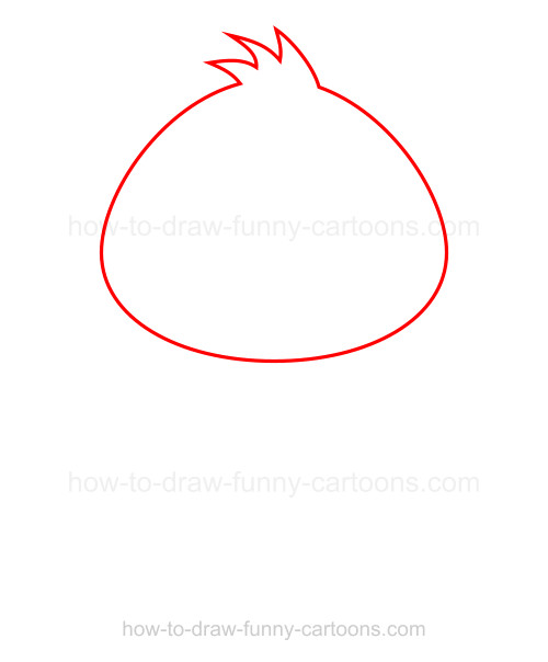 How to draw a bird
