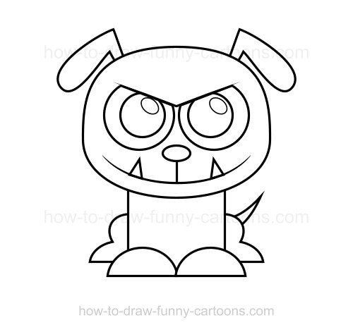 How to draw a bulldog