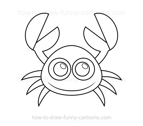 how to draw a crab - Basic Drawings For Kids