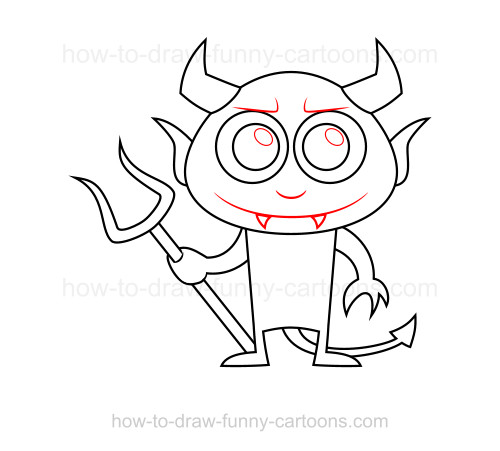 How to draw a devil