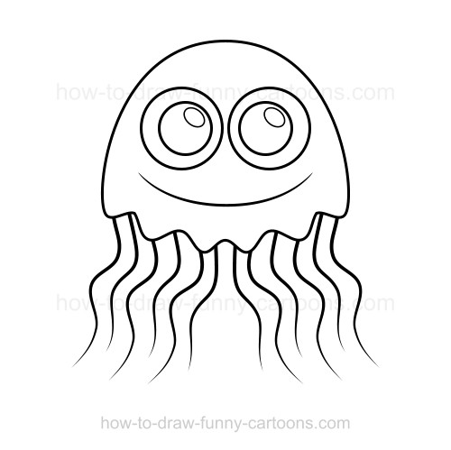 Realistic jellyfish coloring pages