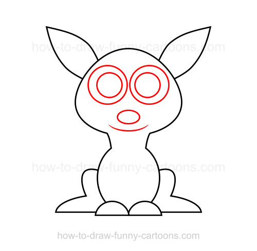 Line Art Kangaroo : How to draw a kangaroo