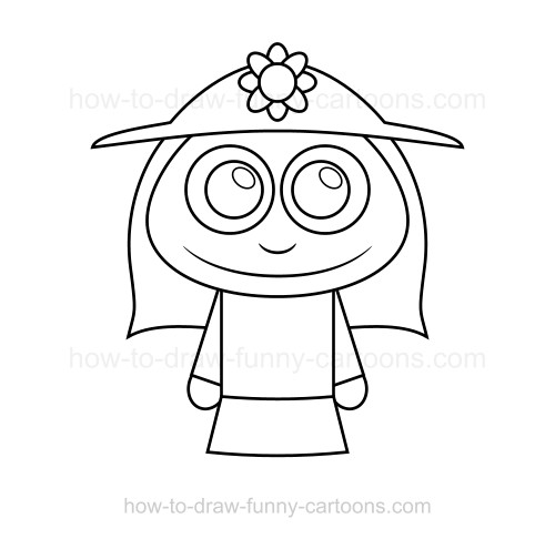 Line Drawing Lady : How to draw a lady