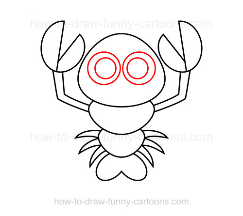 how to draw a realistic lobster