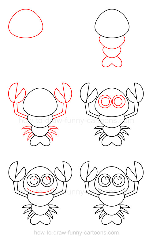 How to draw a lobster