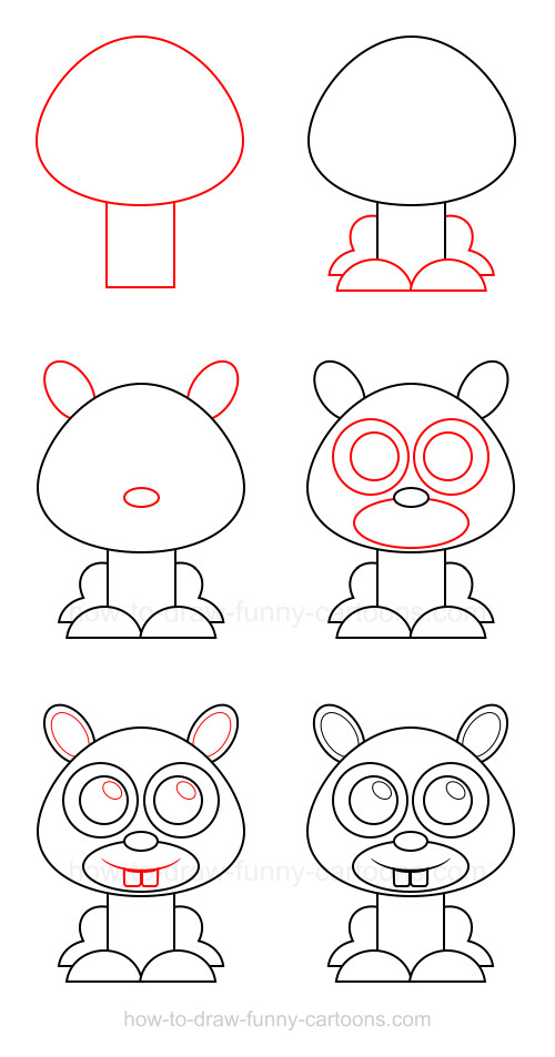 How to draw a mole