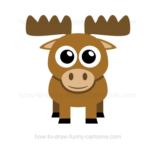 Cute Moose Drawing