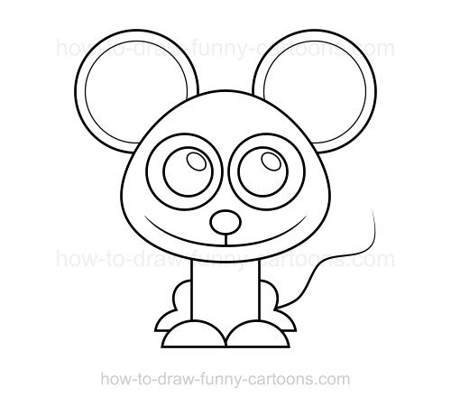 How to draw a mouse for Fun and easy pictures to draw