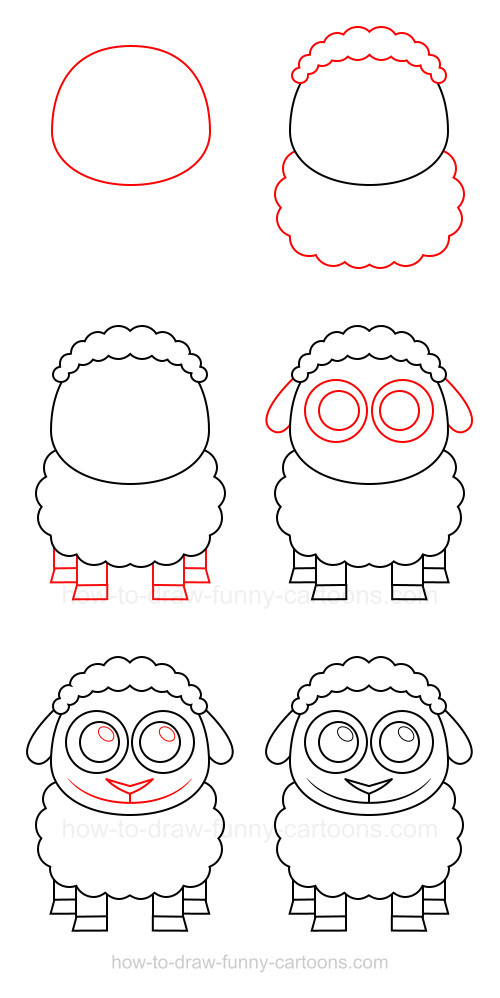How to draw a sheep - photo#17