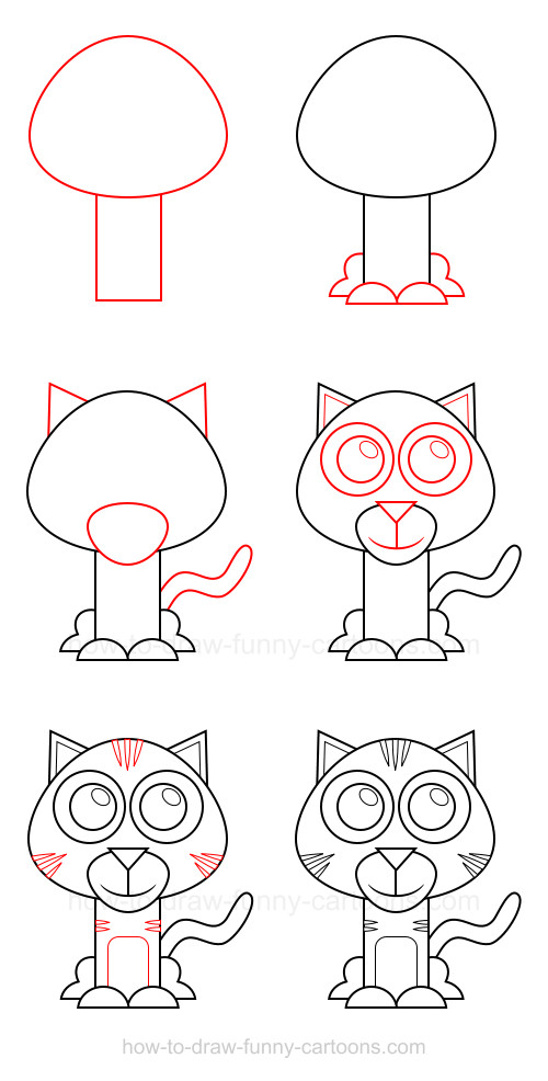 How to draw a cute tiger step by step - photo#11