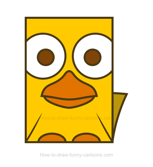 How to Draw a Duck Clipart