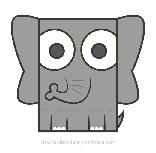 How to Draw an Elephant Clipart