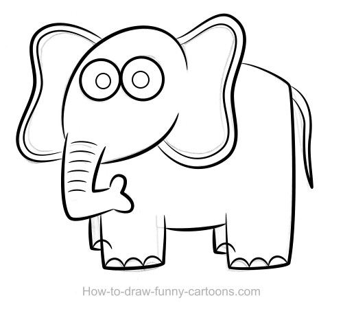 elephant drawing - Easy Animal Pictures To Draw